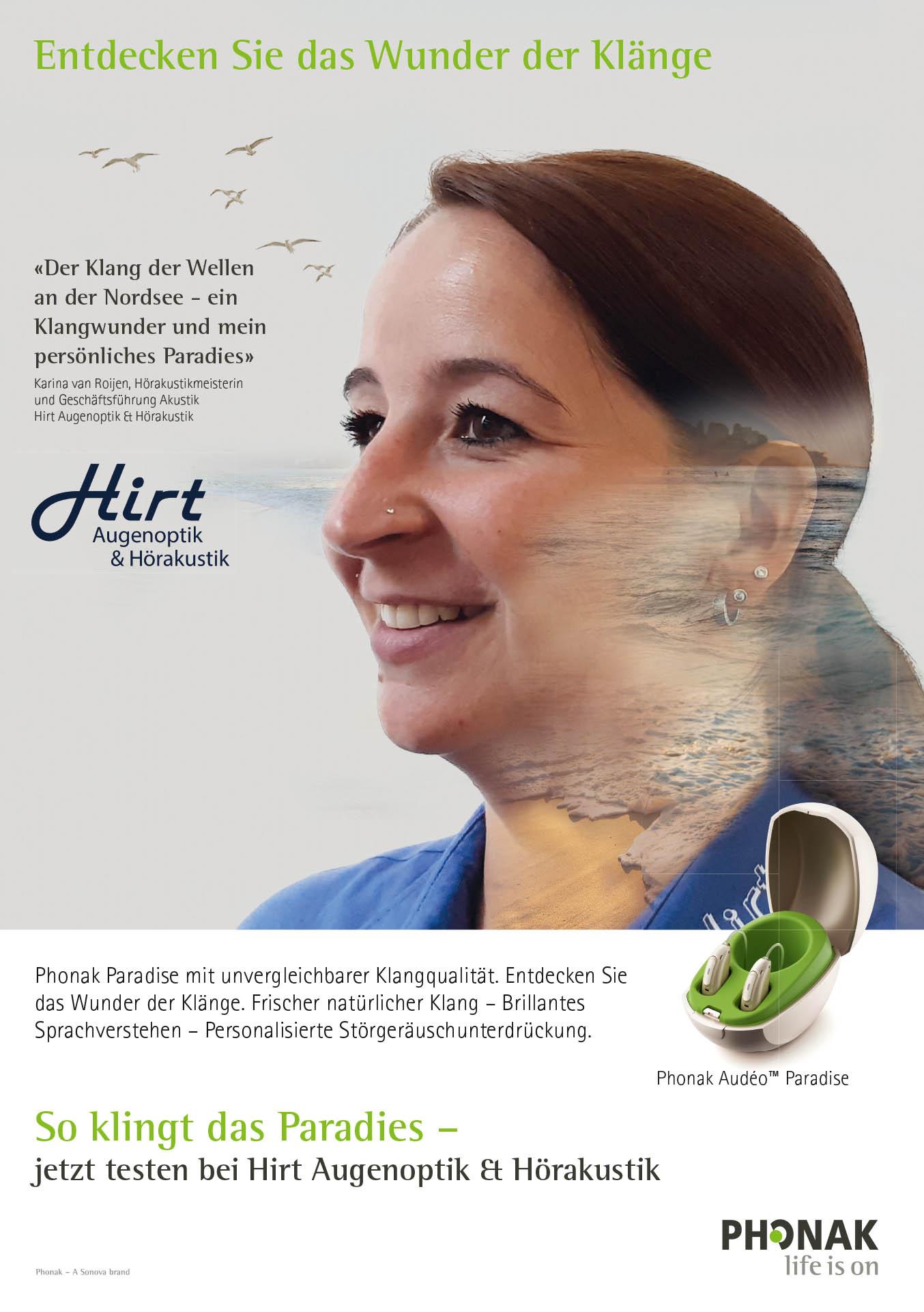Phonak Paradies Hörgeräte bei Hirt Hörakustik in Ober-Ramstadt erhältlich
