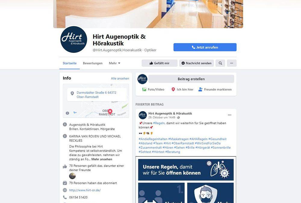 Facebook Auftritt von Hirt