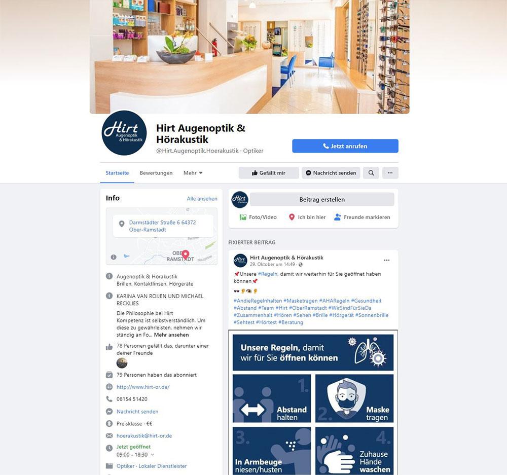 Hirt Ober-Ramstadt bei Facebook